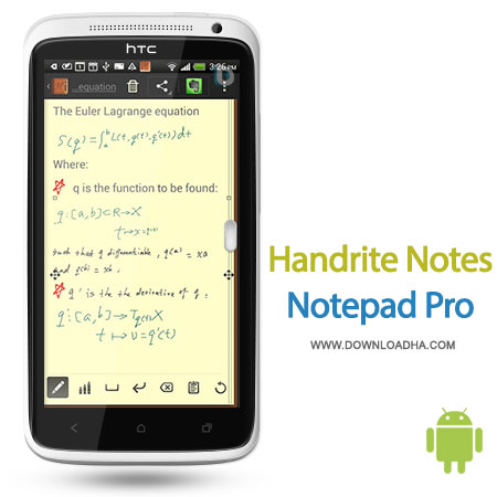 handrite notes android دفترچه یادداشت Handrite Notes Notepad Pro 1.91   اندروید