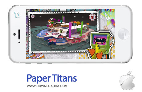paper titans بازی زیبا و سرگرم کننده Paper Titans 1.0   آیفون و آیپد