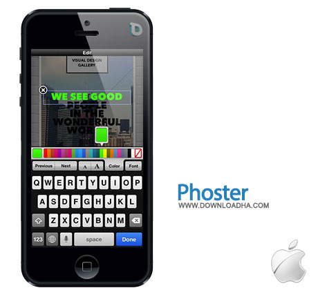 phoster ساخت عکس و پوستر با Phoster 1.5.3   آیفون و آیپد