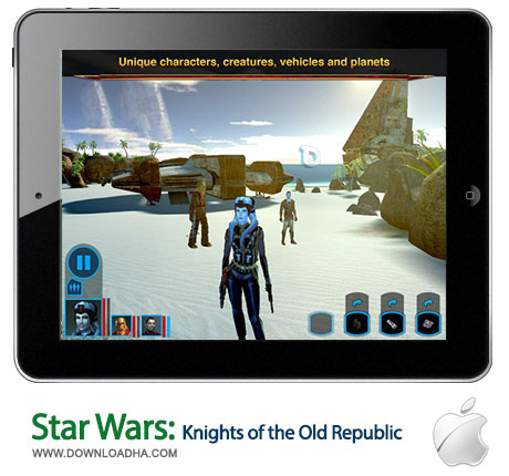 star wars kotor ipad بازی زیبای Star Wars: Knights of the Old Republic   آیپد