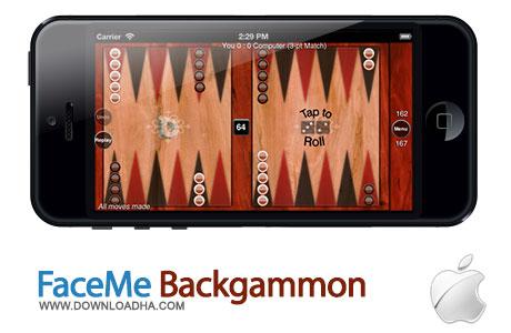 faceme backgammon بازی تخته نرد FaceMe Backgammon 3.3.5   آیفون و آیپد