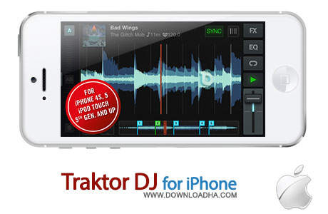 traktor dj iphone ابزاری عالی برای ساخت میکسهای زیبا از صداها Traktor DJ for iPhone 1.0    آیفون