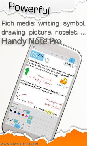 handy note pro android نوت برداری حرفهای با Handy Note Pro 6.4   اندروید