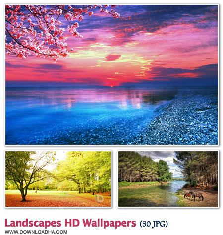WallLHW2 مجموعه 50 والپیپر زیبا با موضوع طبیعت Landscapes HD Walpapers