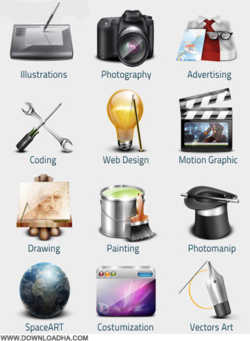 art         Set Of Art Icons