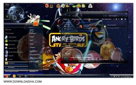 Angry Birds StarWars Skin Pack دانلود اسکین پک Angry Birds StarWars Skin Pack ویندوز 7