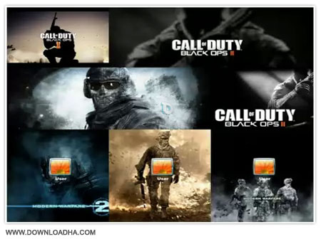 Call Of Duty Windows Theme مجموعه تم های کال اف دیوتی Call Of Duty Windows Theme