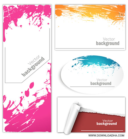 Color splash banners دانلود وکتور بنرهای رنگارنگ Color Splash Banners Vector