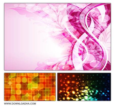 Colorful Backgrounds s3 مجموعه 3 وکتور پس زمینه های رنگارنگ Colorful Backgrounds