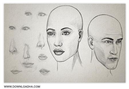 آموزش ویژگی های طراحی چهره Drawing Facial Features