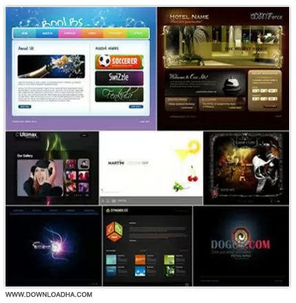Flash Template Website مجموعه 10 قالب فلش برای وبسایت Flash Template Website