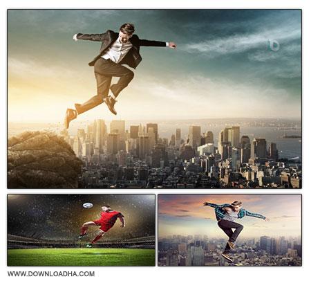 Jump Man مجموعه 20 تصویر استوک با موضوع پرش   Stock Photos Jump Man