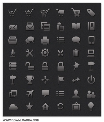 Minimal Dark UI Icon Set     Minimal Dark UI Icon Set