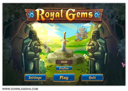 Royal Gems دانلود بازی سرگرم کننده و کم حجم Royal Gems
