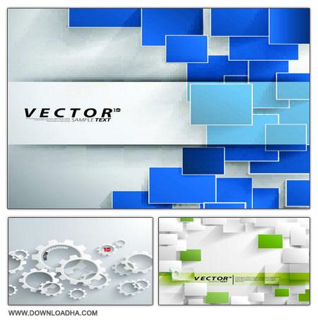 داونلود رایگان وکتور پس زمینه Vector Backgrounds Collection