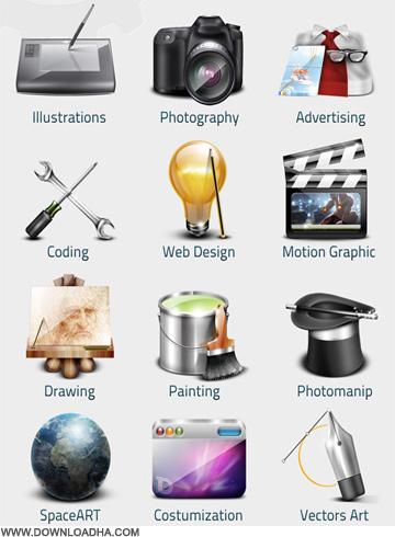 Clean Vector Media Icons دانلود وکتور آیکون های رسانه ای Clean Vector Media Icons